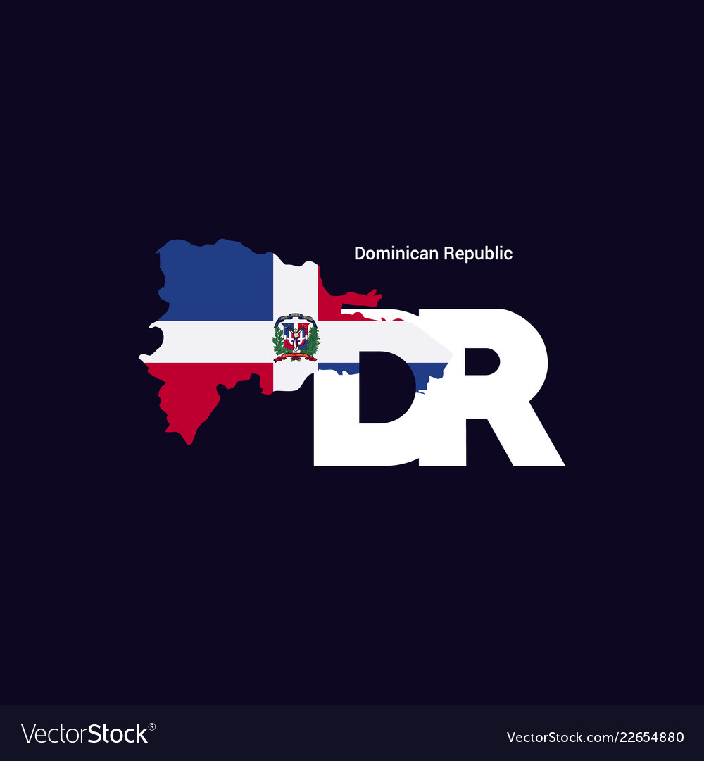 Dominican republic initial letter country with