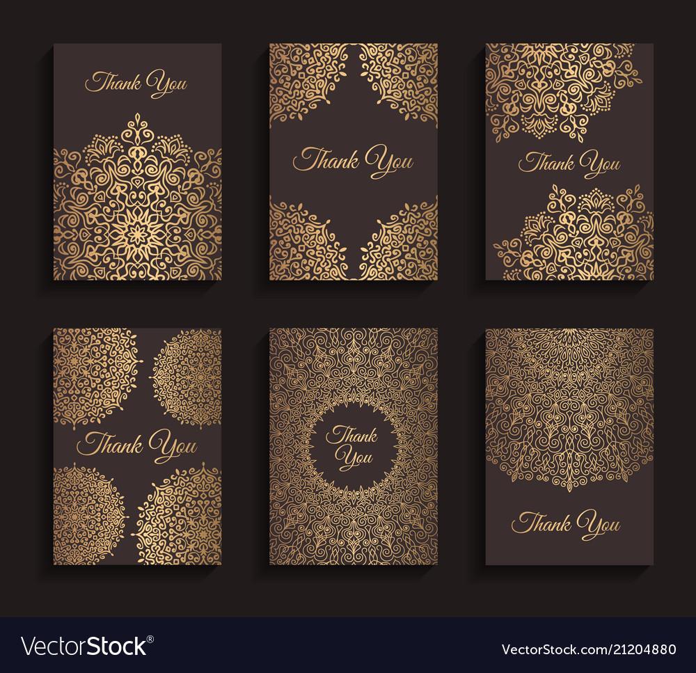 Golden invitations set