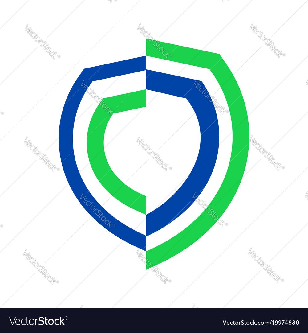 Half Life Insurance Symbol Graphic Design Vector Image