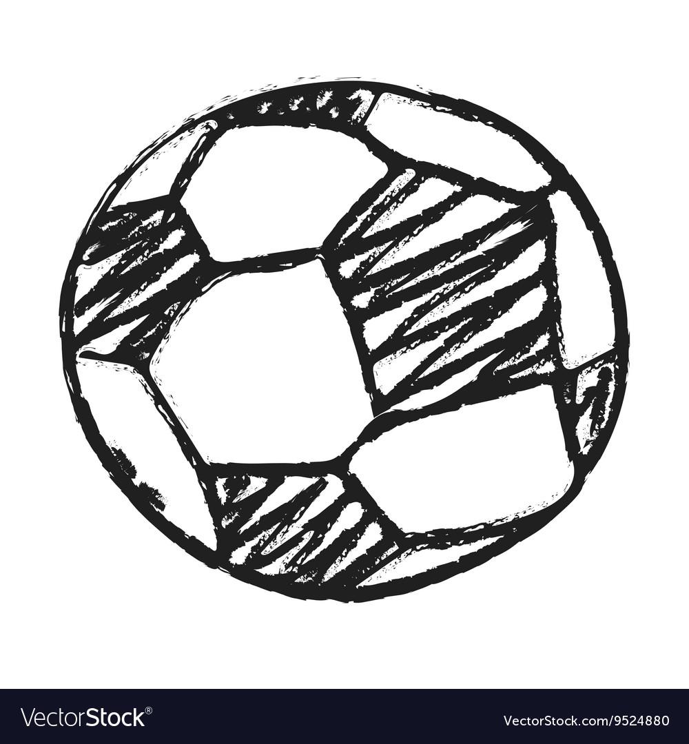 Hand Draw Football Ball Royalty Free Vector Image
