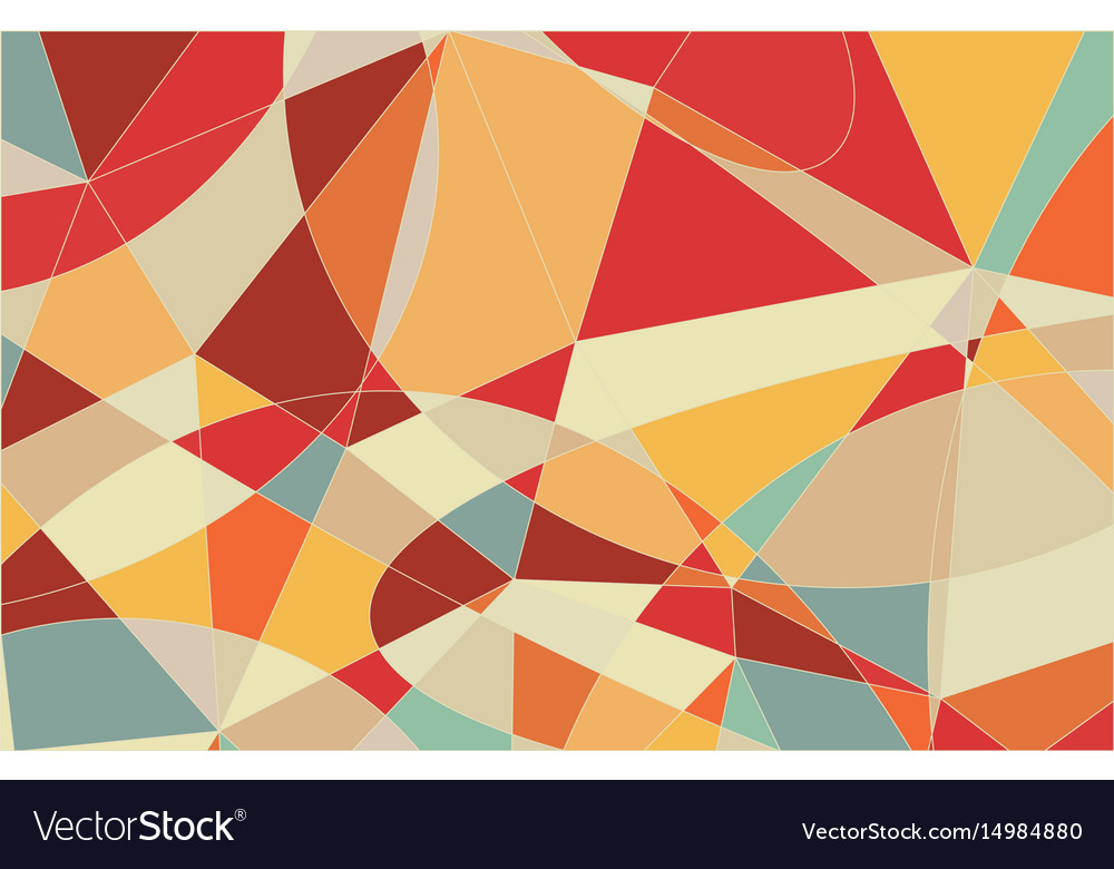 Pastel colors mosaic pattern stock image vector image