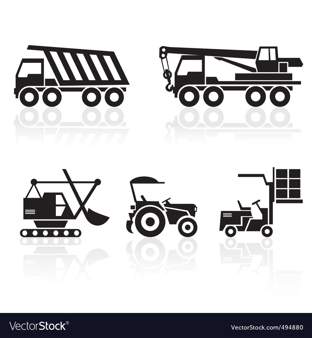 Special vehicles vector image