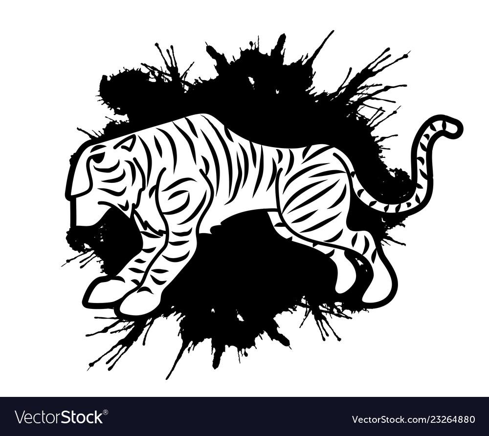 Tiger cartoon logo graphic