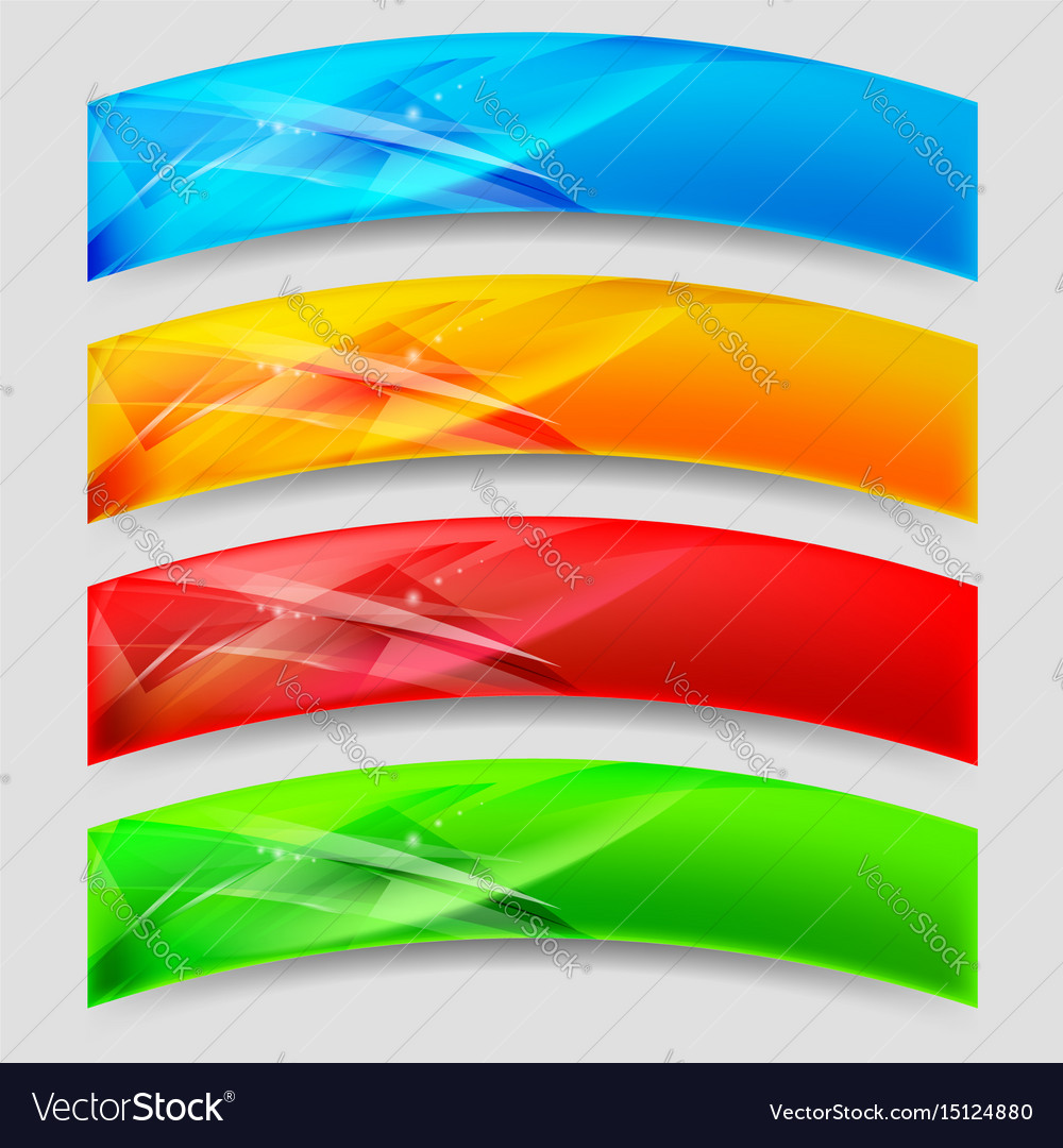 Web arc panels form an abstract background vector image