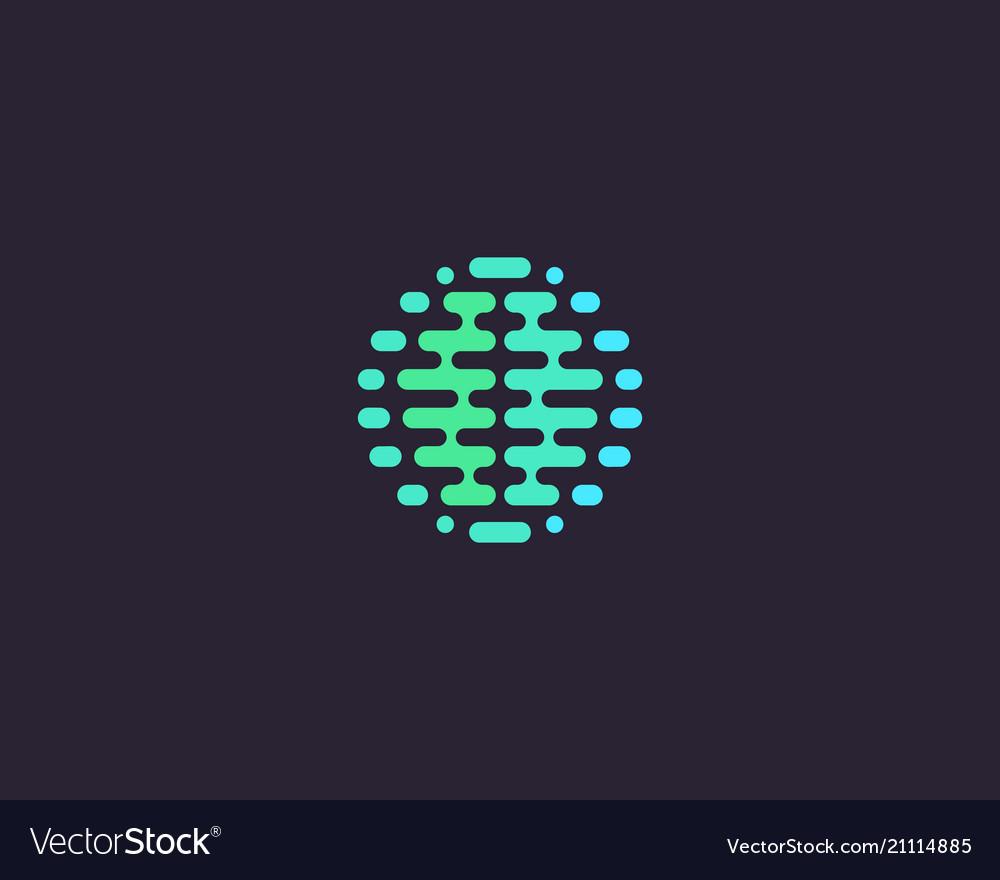 Abstract brain planet logotype color globe idea