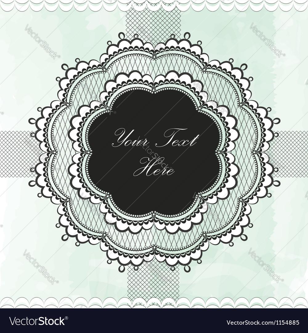 Black vintage lace border