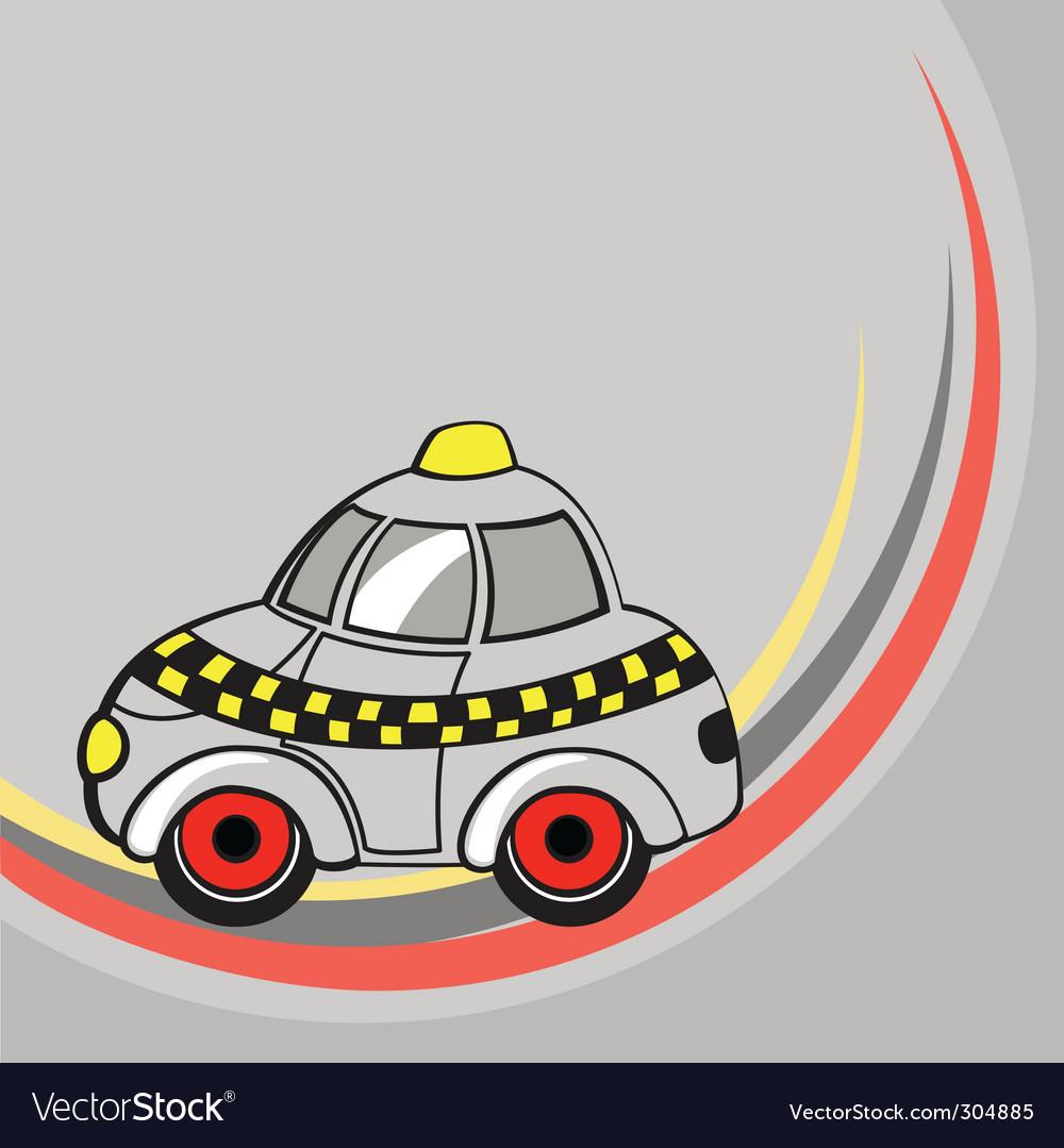 Cartoon taxi car vector image