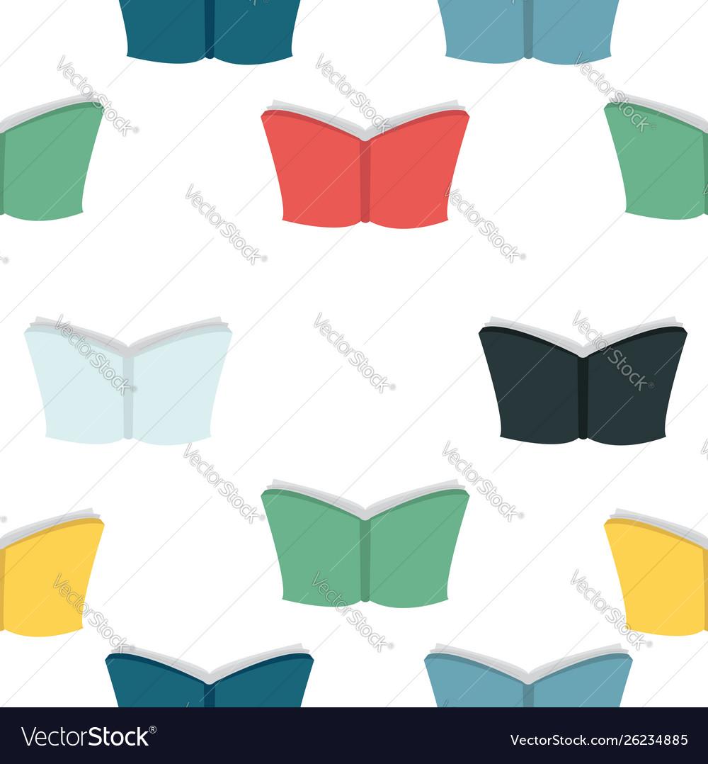 Colorful books seamless pattern
