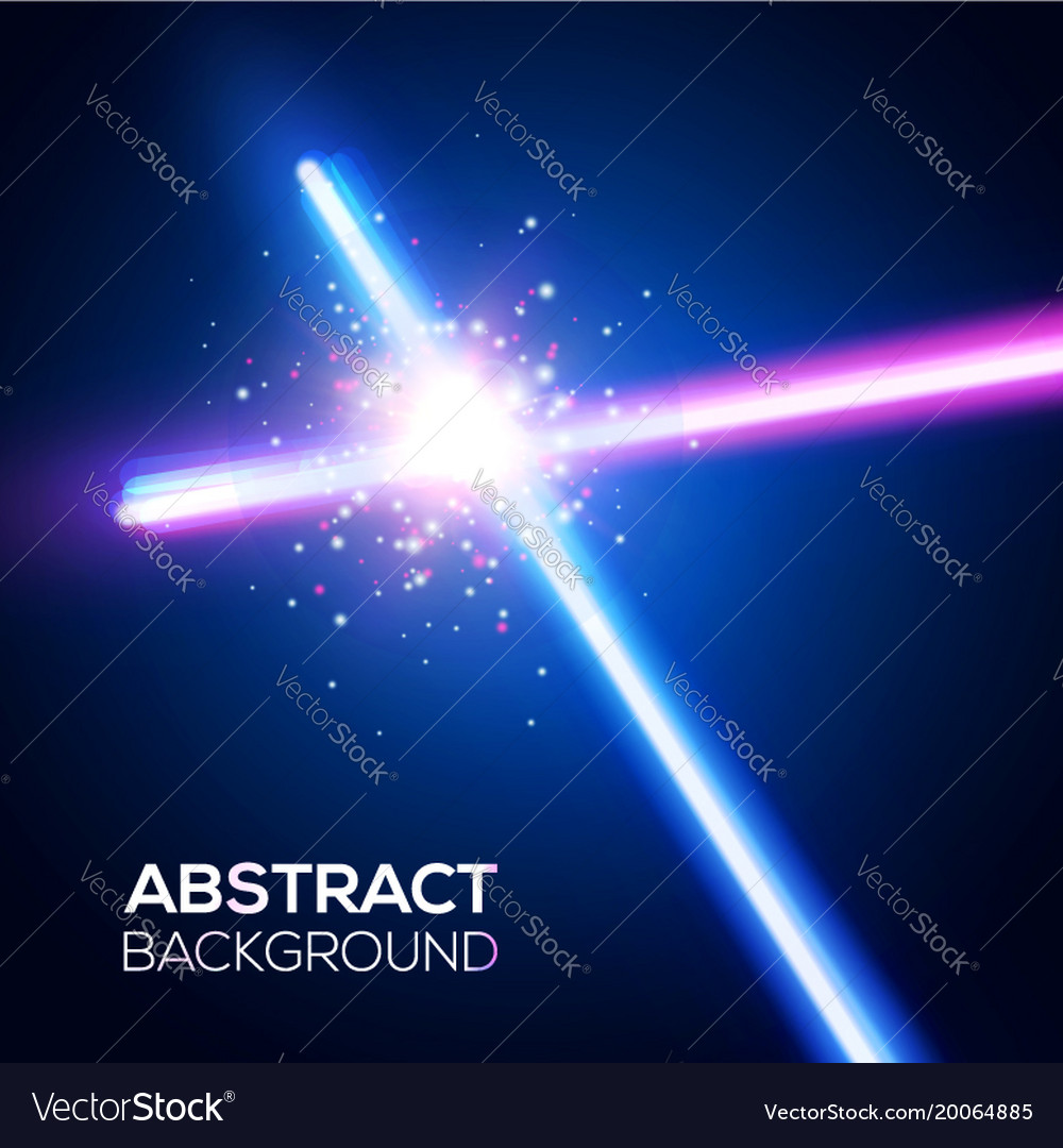 Crossing laser sabers war battle with star flash
