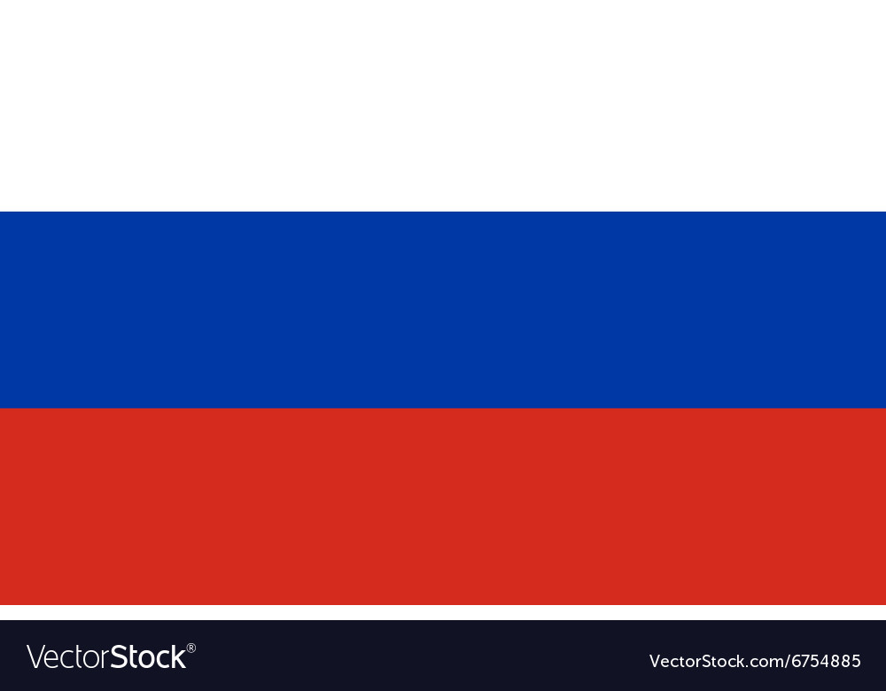 Flag of Russia vector image