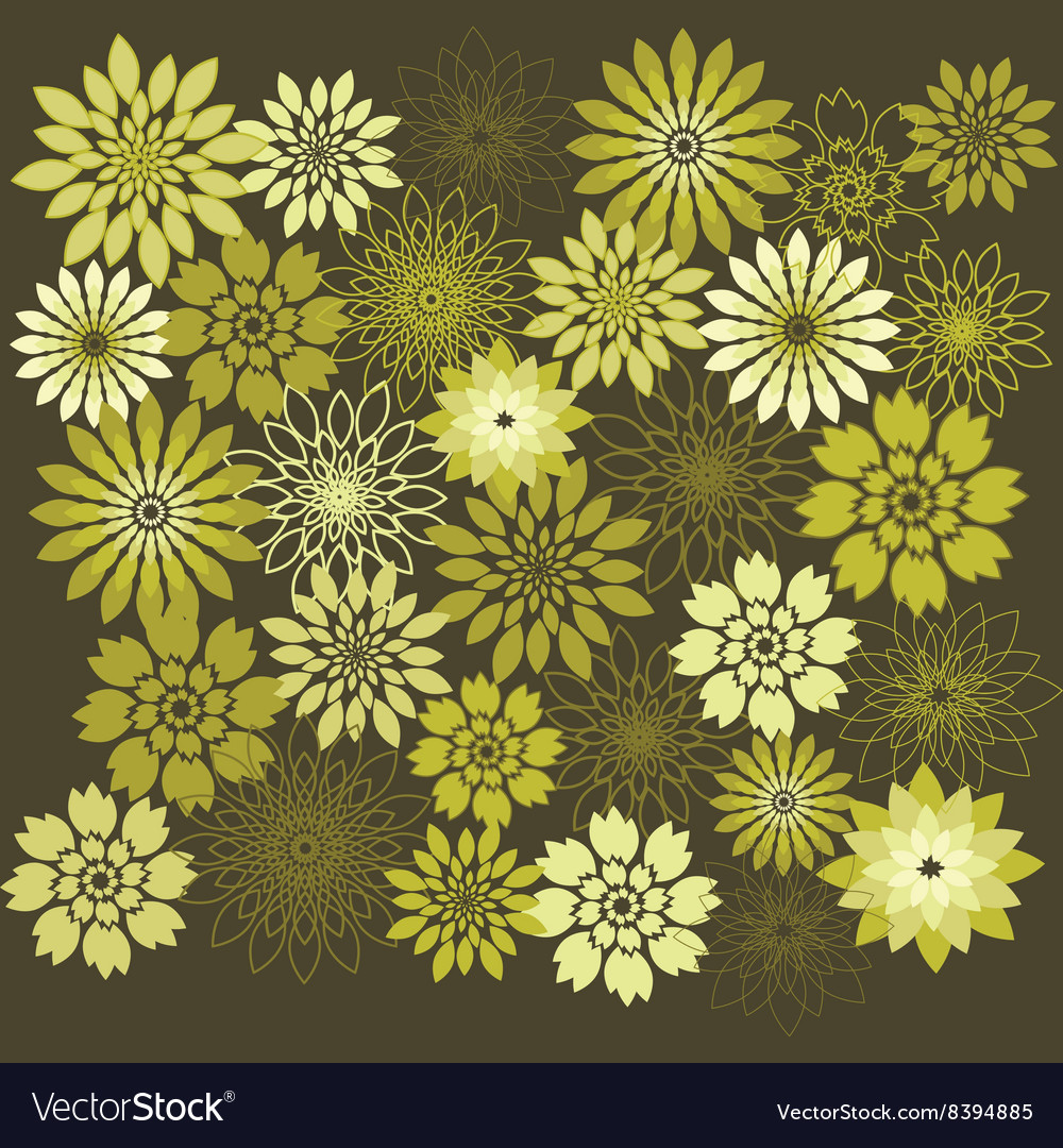 Flower Design Elements Flower Background vector image