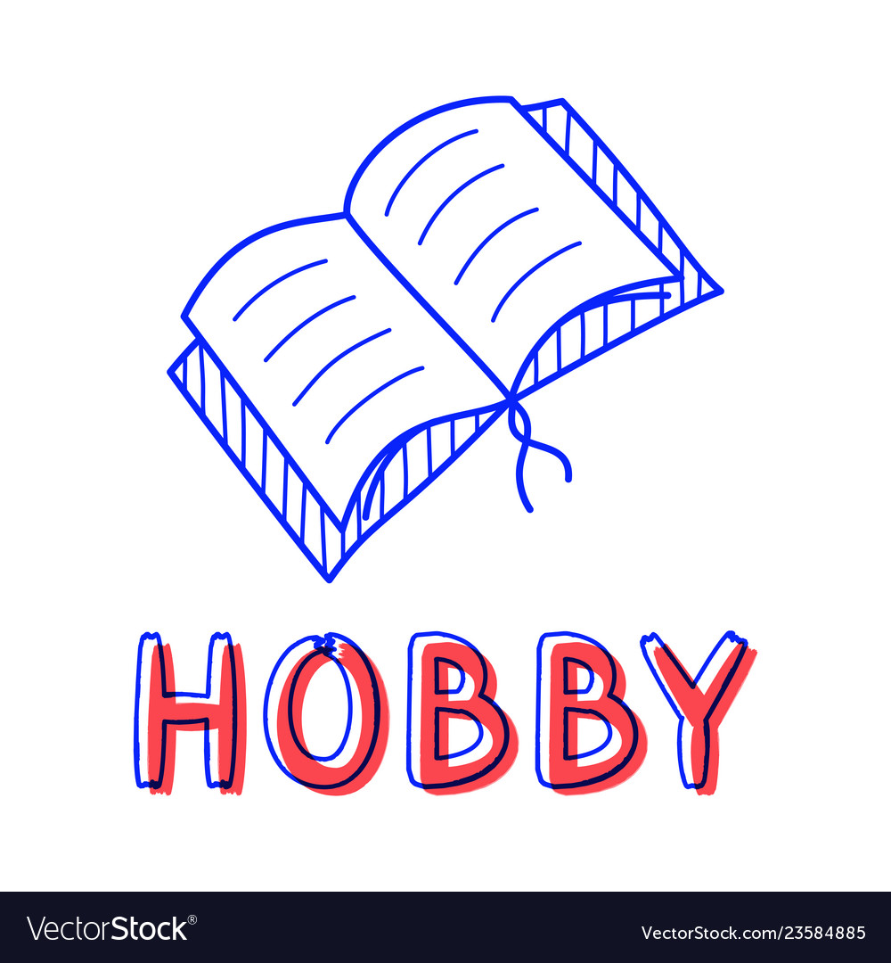 Hand draw open book icon in doodle style for your