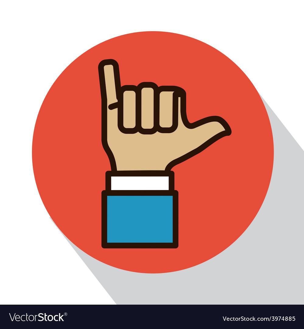 Hands signals vector image