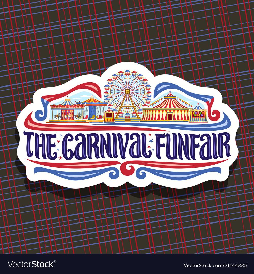 Logo for carnival funfair