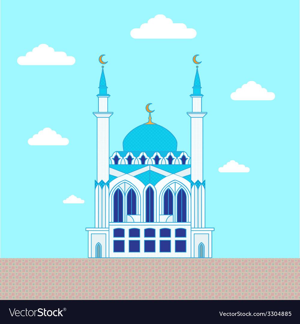 Mosque Flat design building poster template