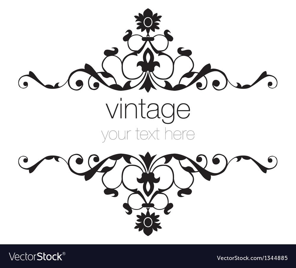 Ornate vintage frames Royalty Free Vector Image