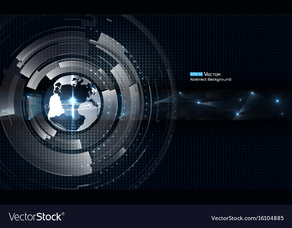 Transparent world with futuristic elements vector image