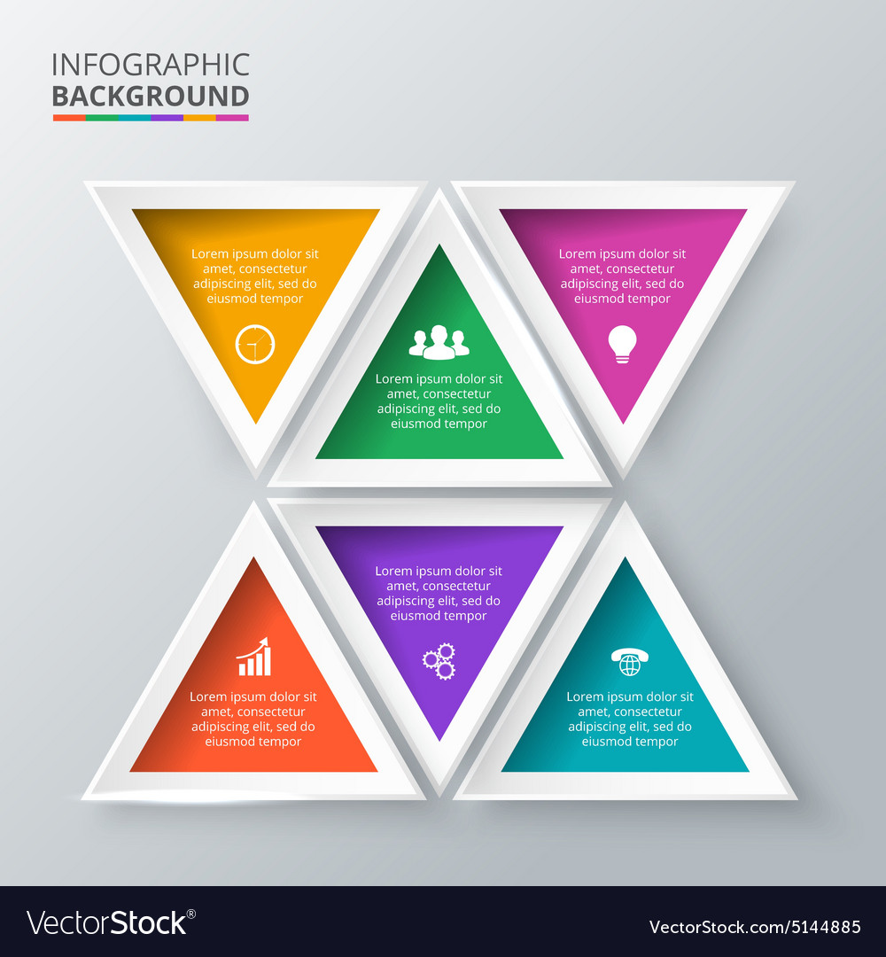Triangles for infographic