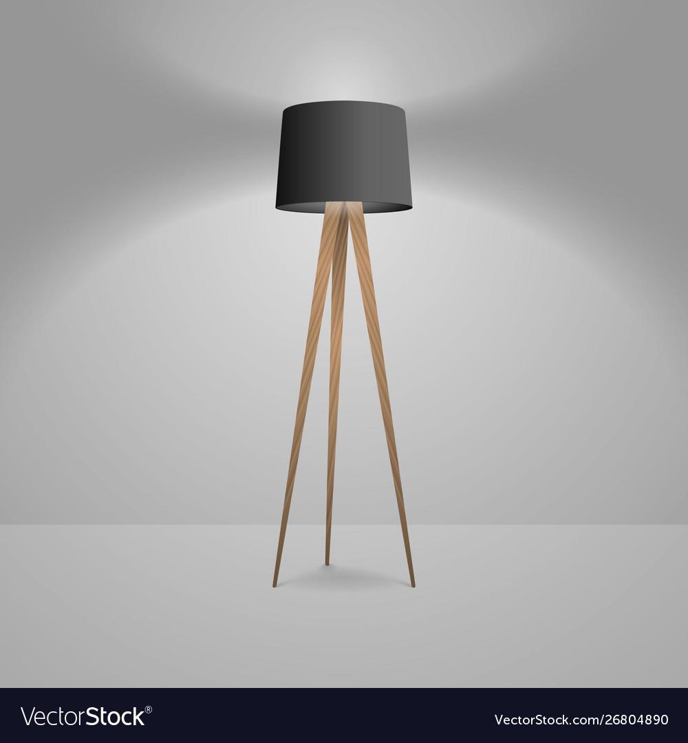 3d realistic render illuminated lamp