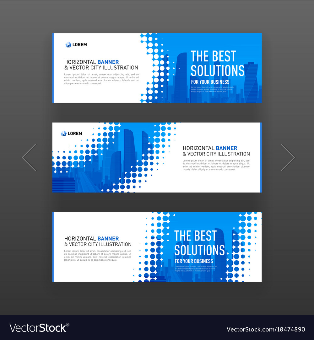 abstract corporate web site slideshow template vector image