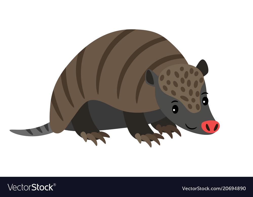 Armadillo cartoon animal icon