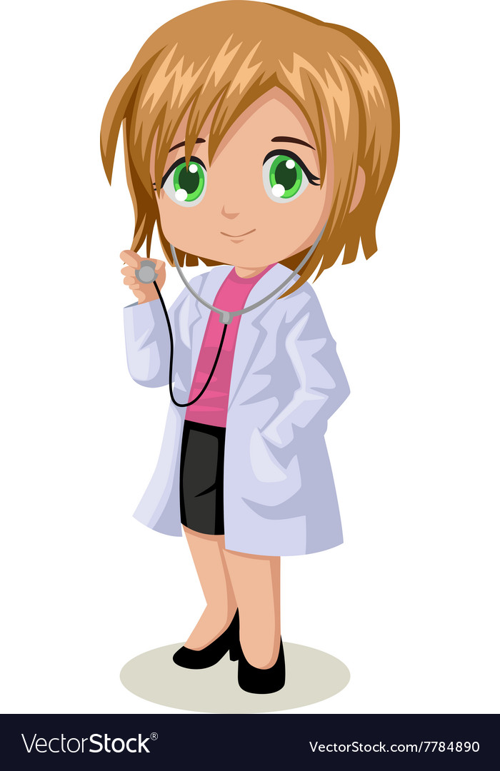 Cute cartoon of a doctor vector image