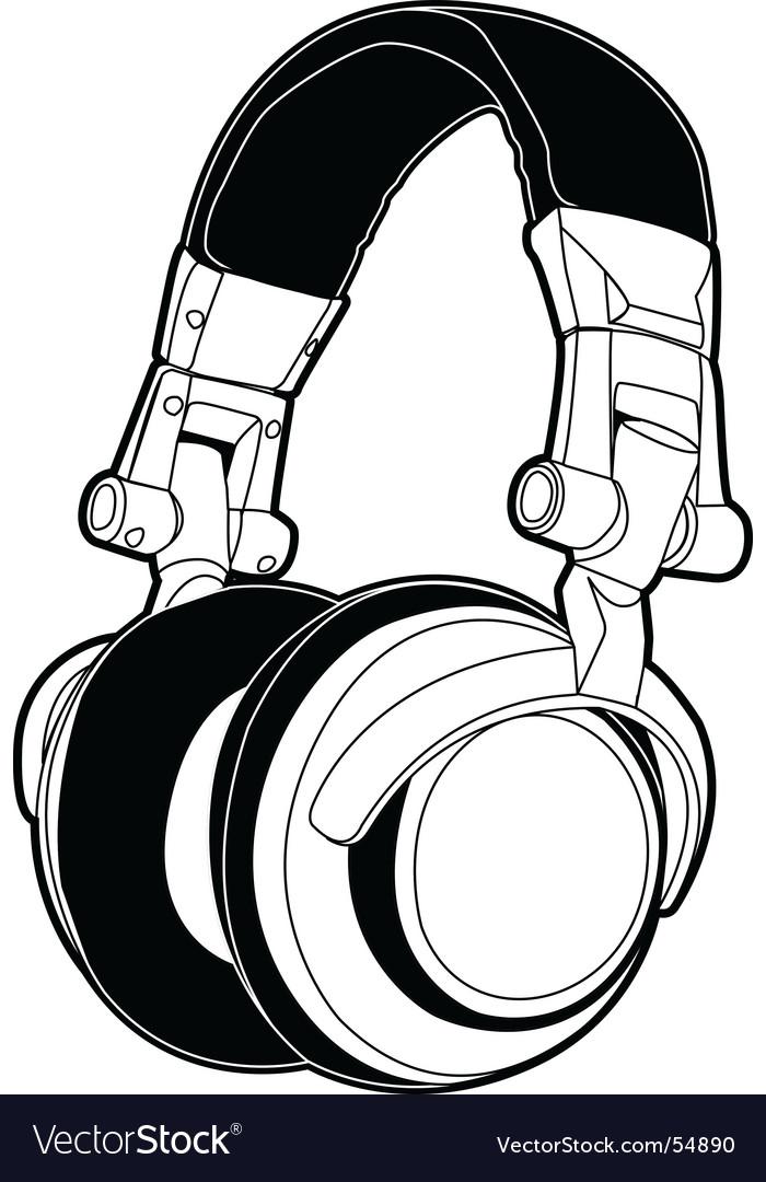 dj headphones royalty free vector image vectorstock rh vectorstock com dj victoria dj victor salazar