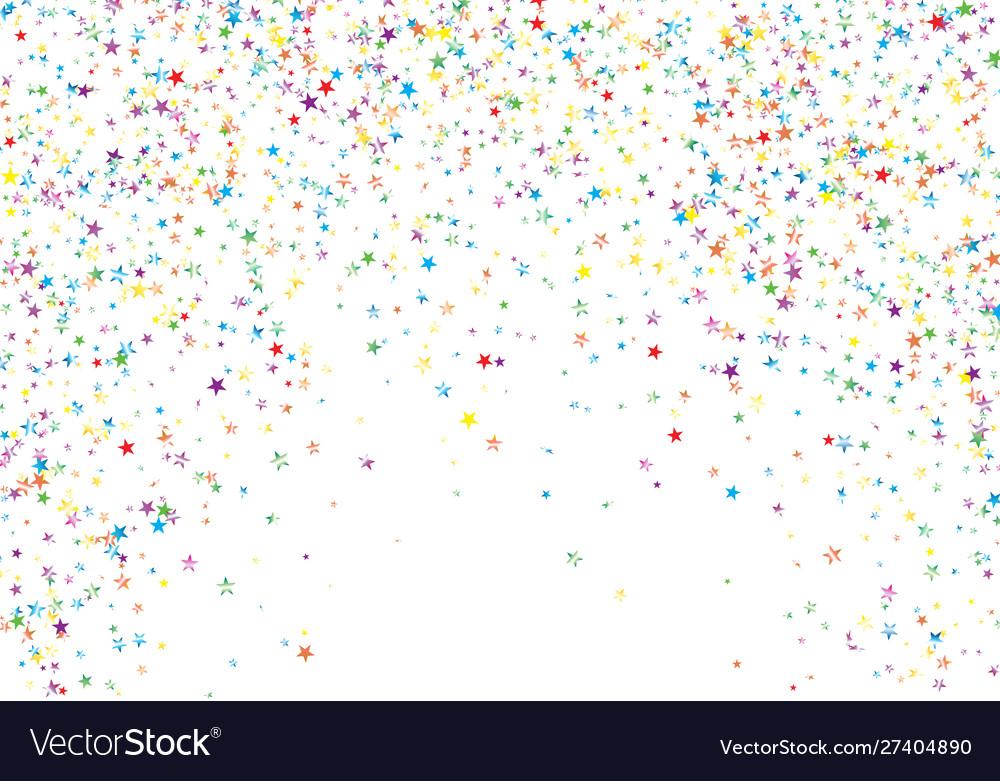 Festive template with colored confetti on white