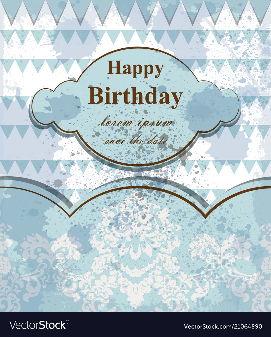 Happy birthday baby card delicate lace and