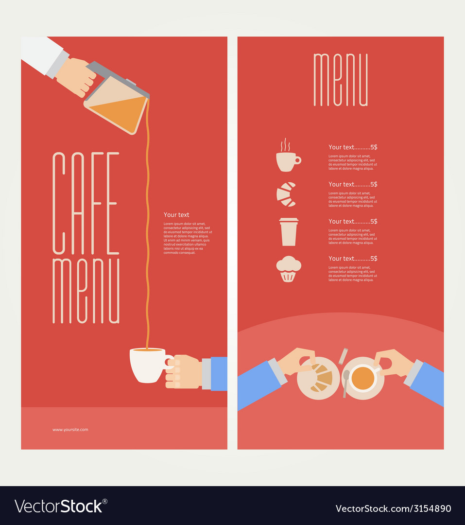 Modern colorful menu vector image