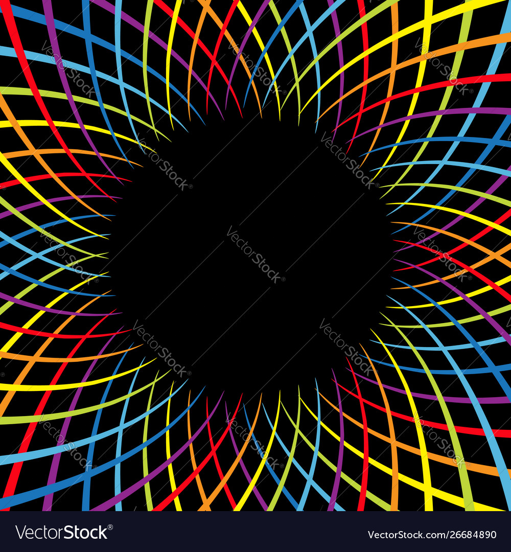 Rainbow color spiral flower speed colorful swirl
