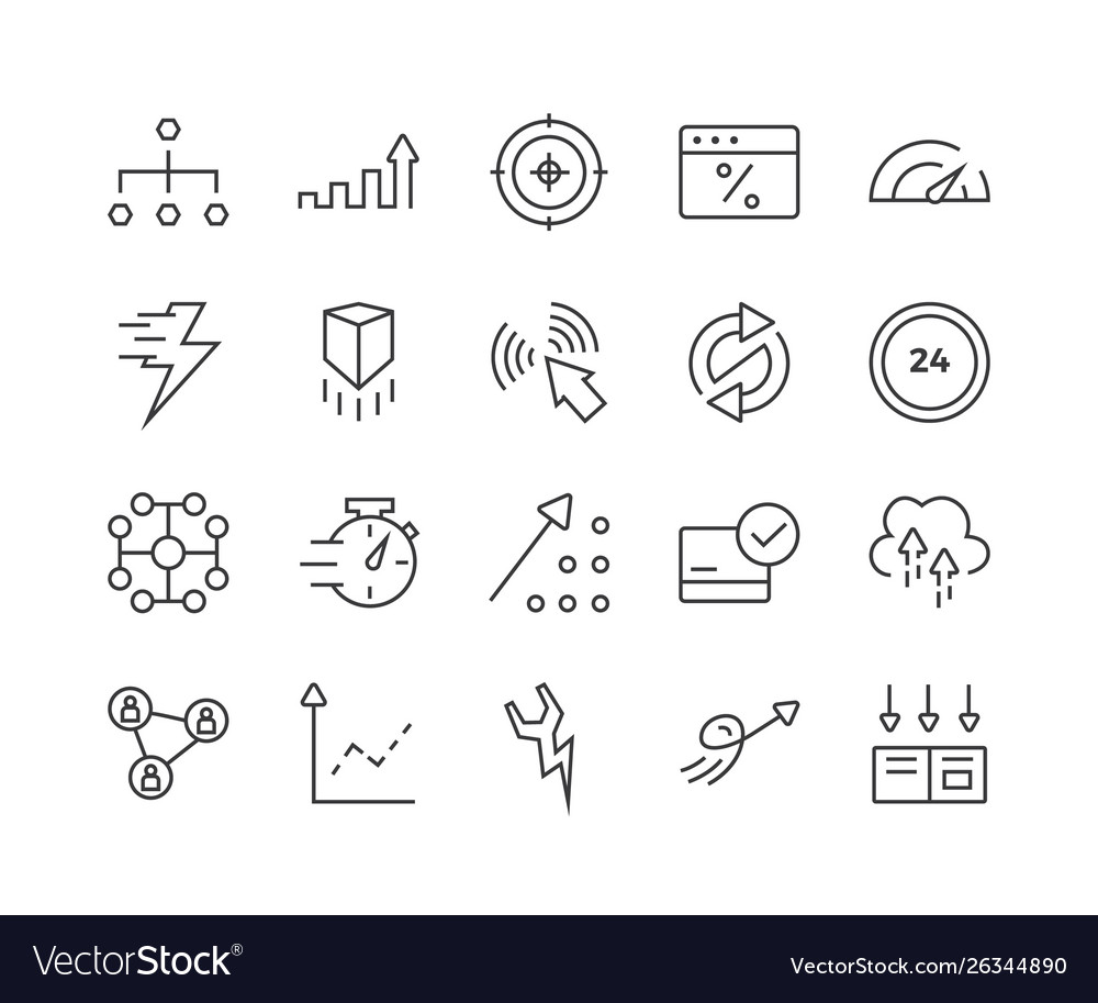 Set seo related line icons