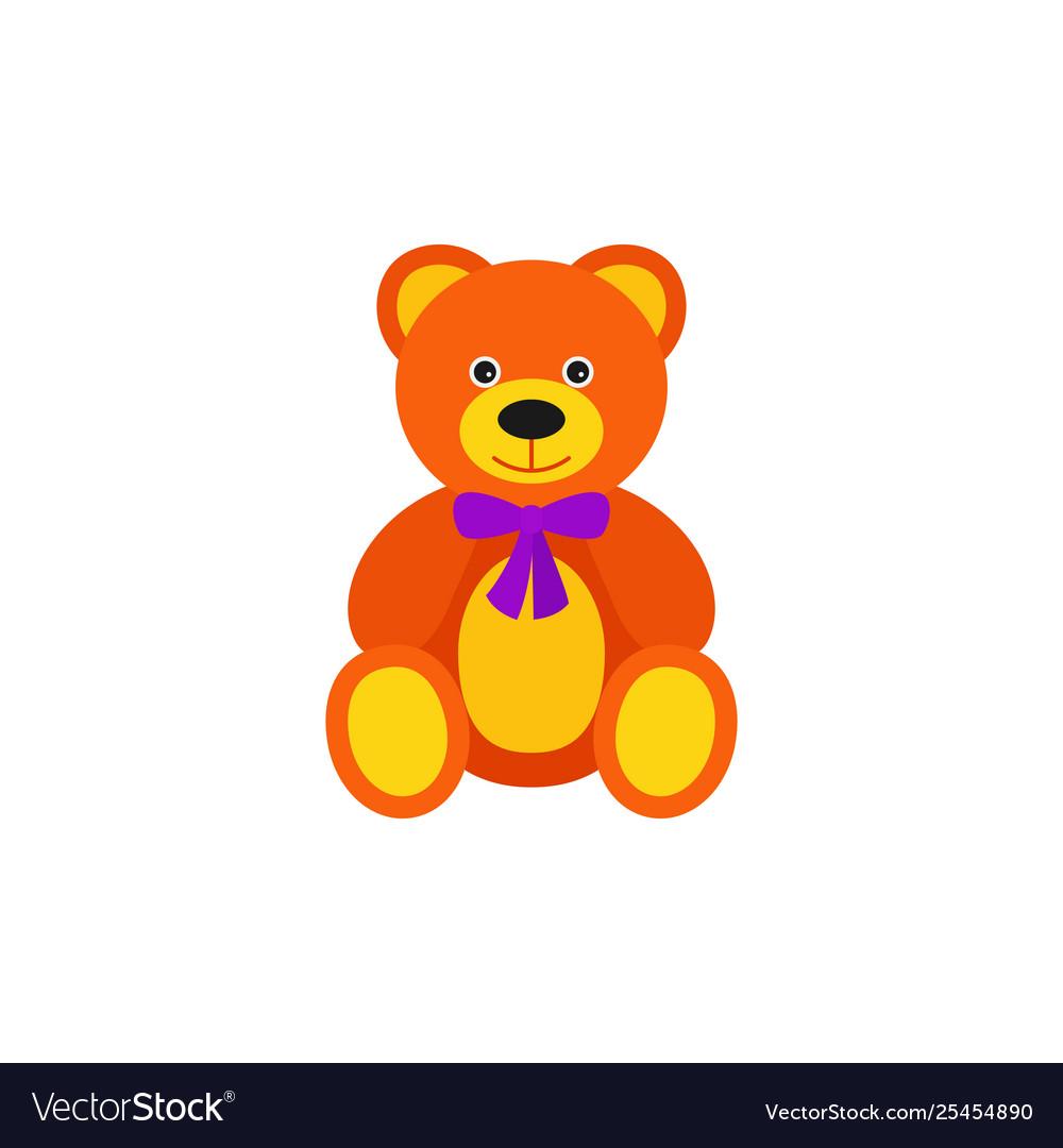 Teddy Bear Batoy In Flat Design Cartoon Royalty Free Vector