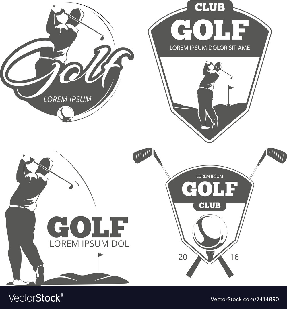 Vintage golf labels badges and emblems