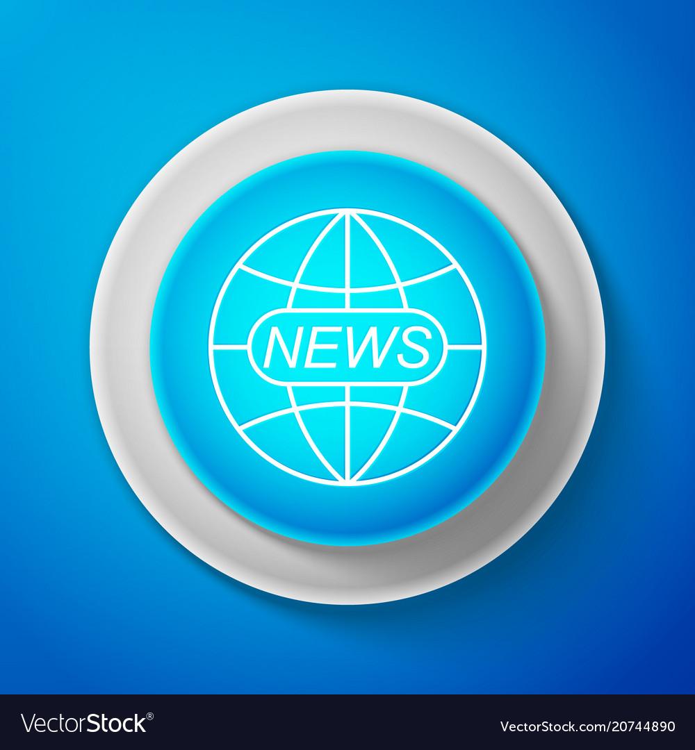 World and global news concept icon news sign icon vector image