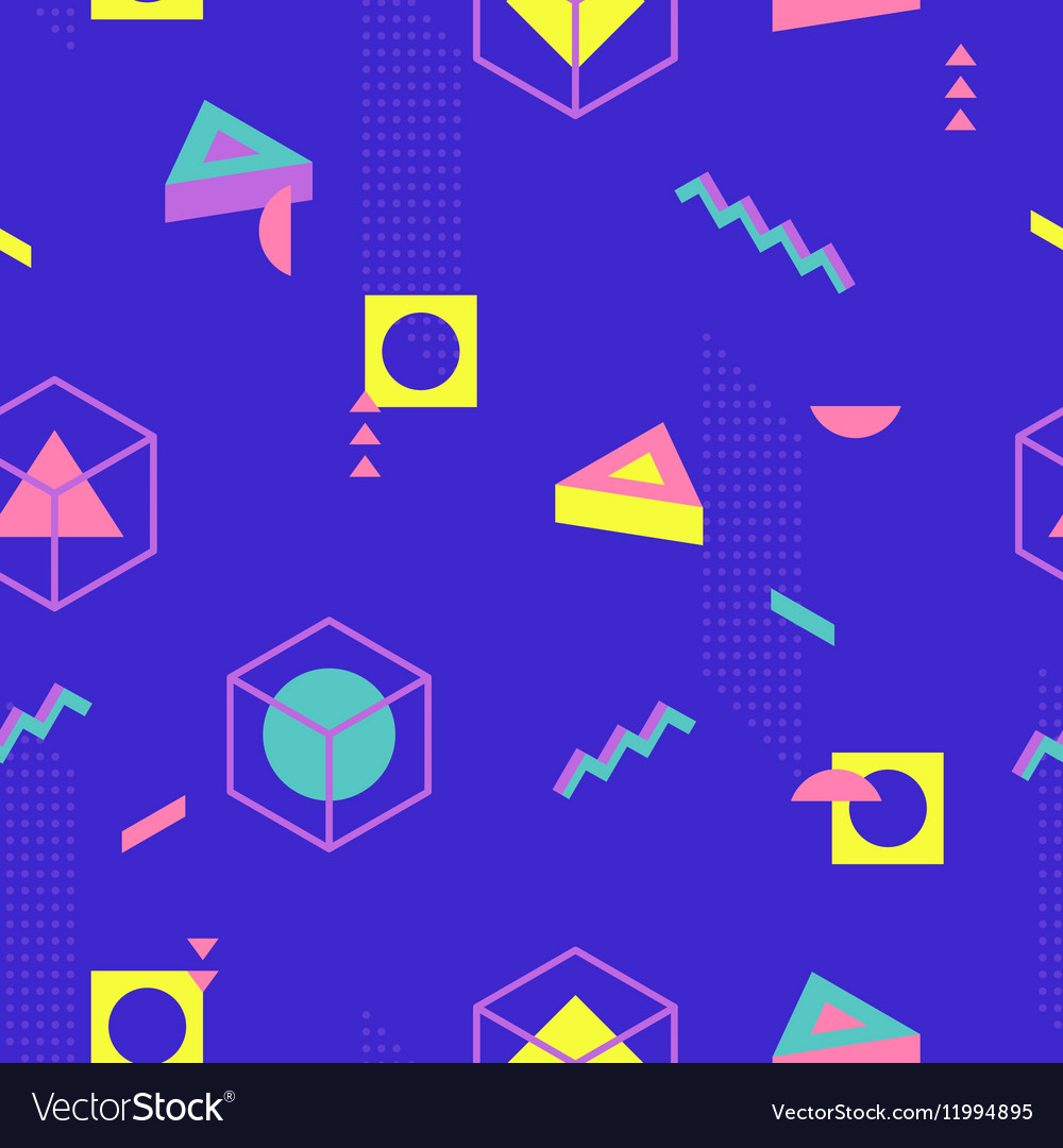 Abstract Geometric Pattern fashion 80-90s