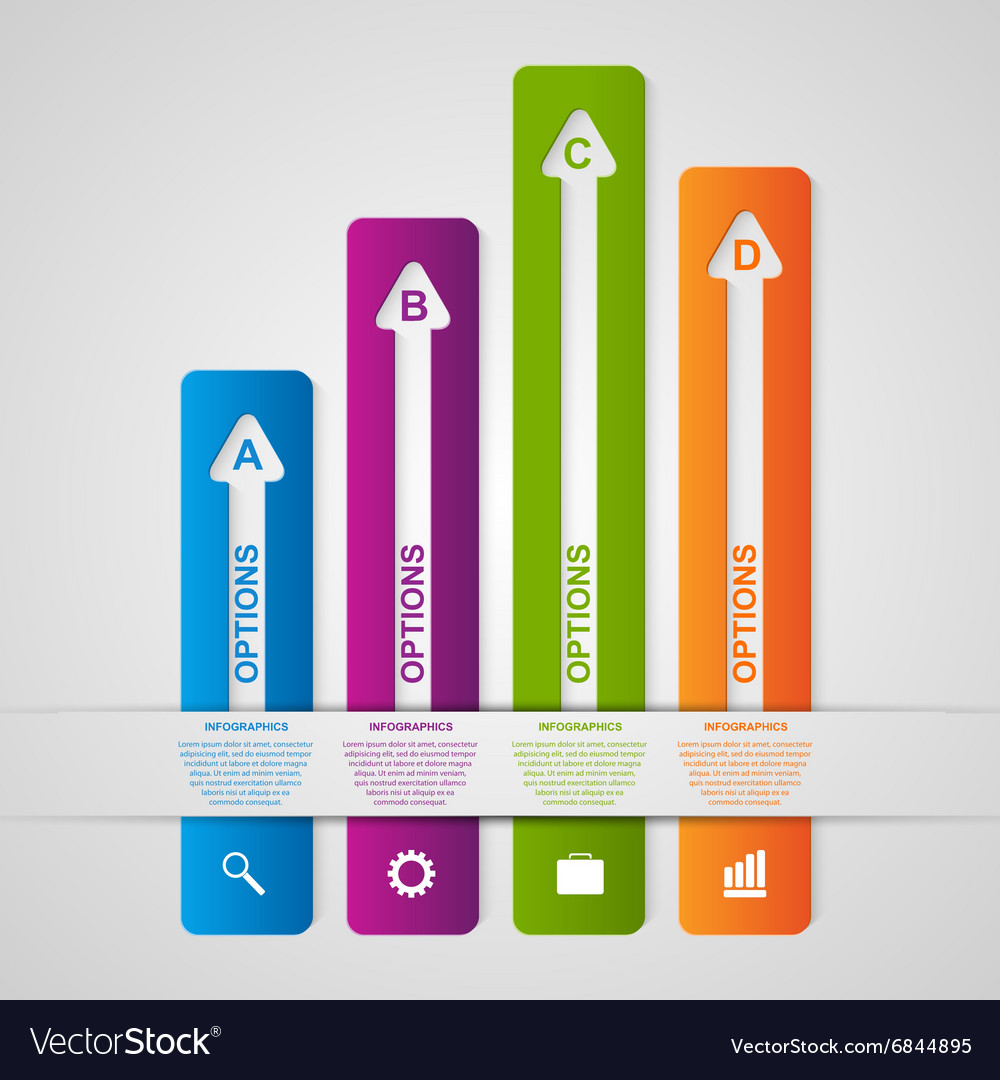 Abstract options infographic Design element vector image