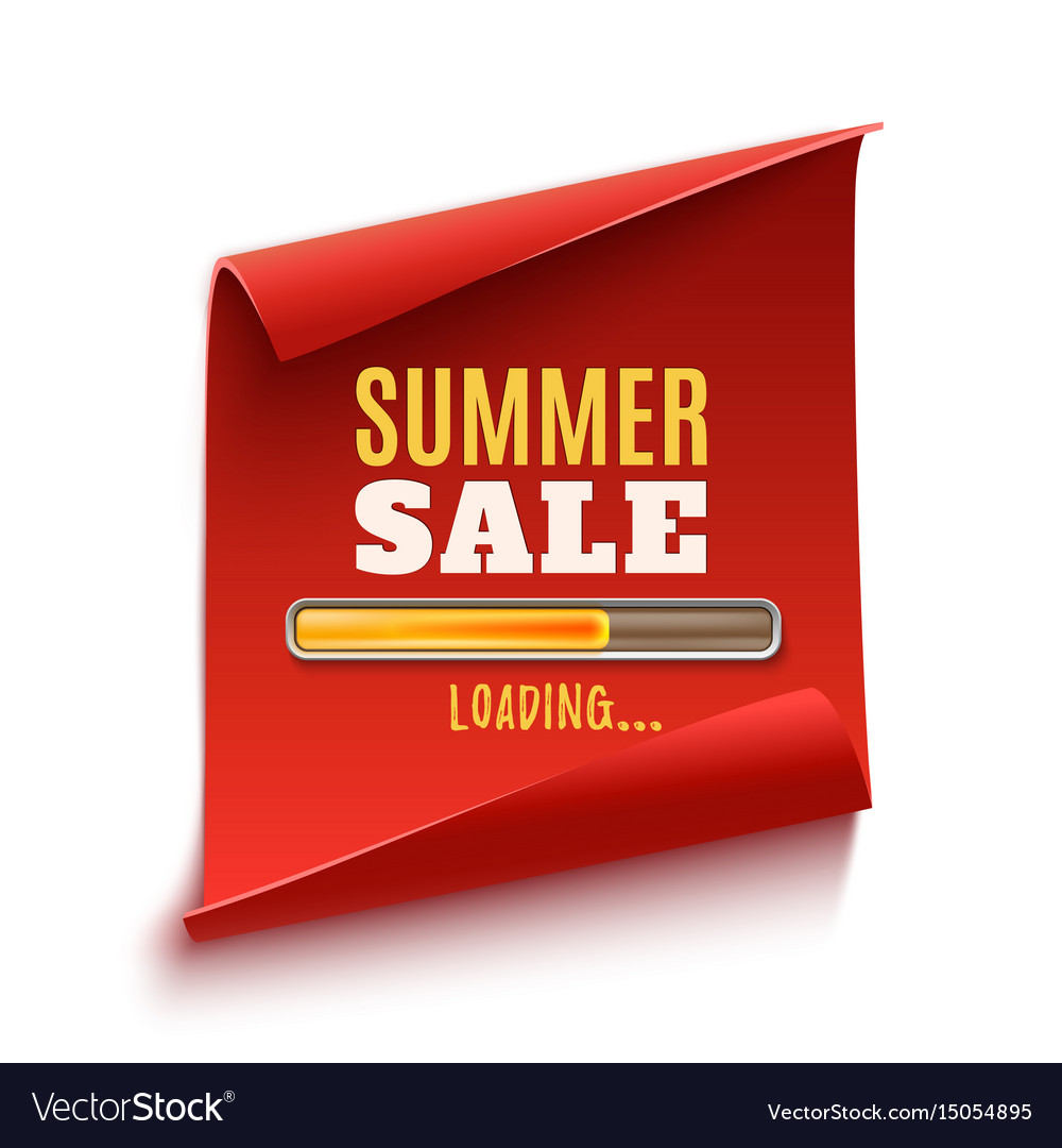 Big summer sale loading poster