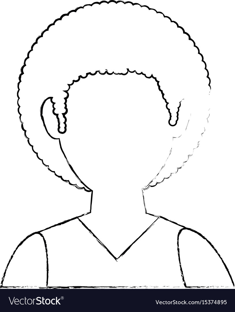 Boy faceless avatar vector image