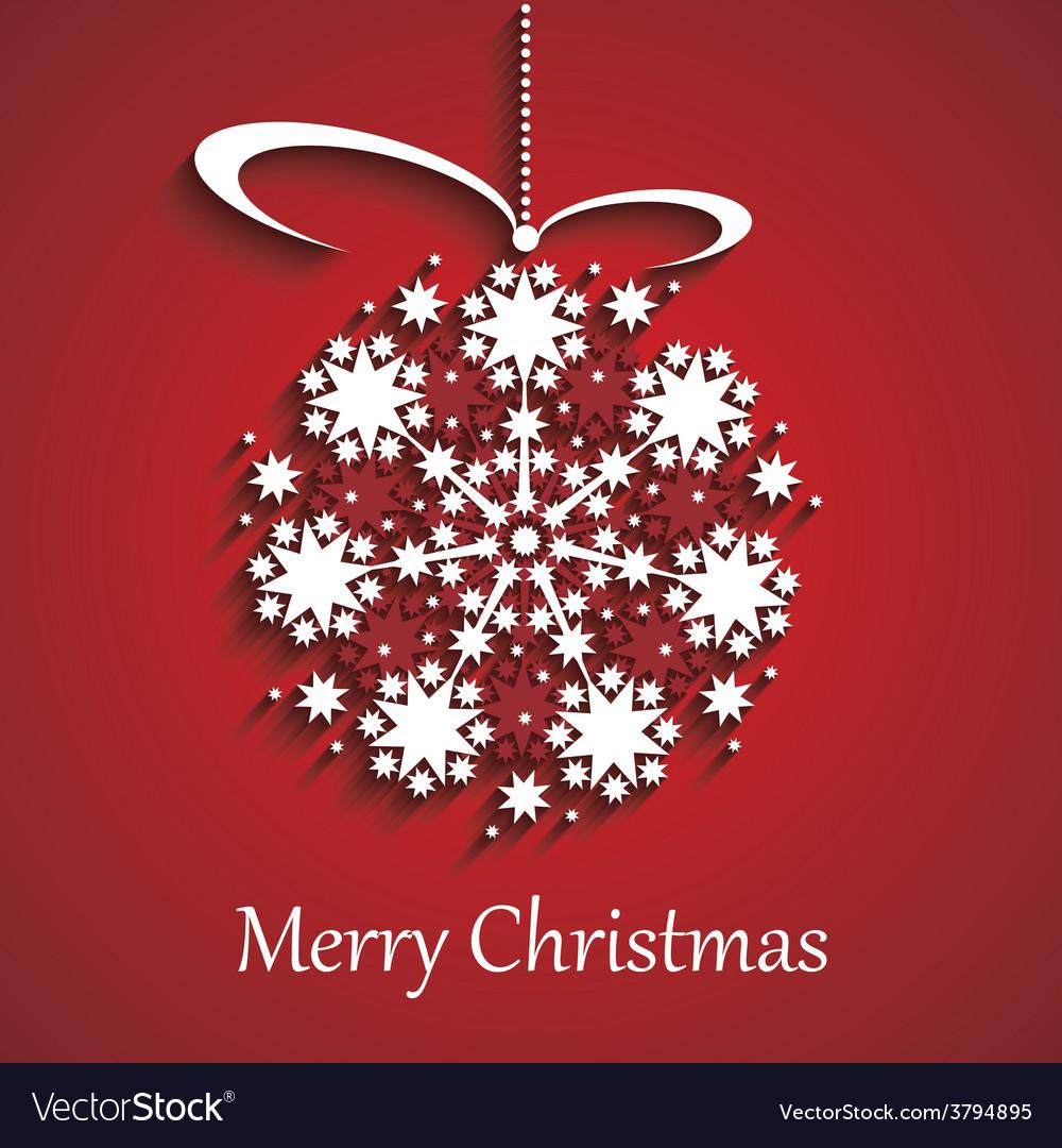 Christmas globe vector image