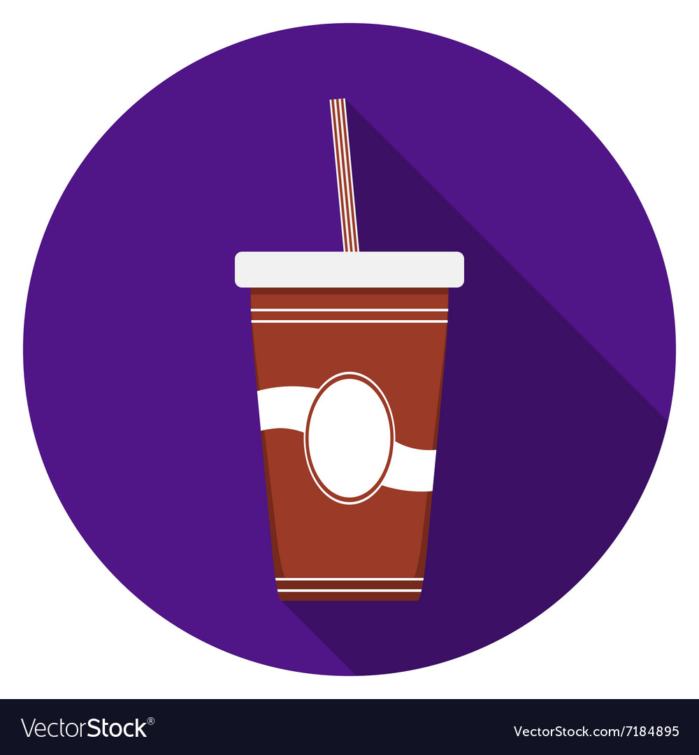 Flat design modern of drink icon with long shadow