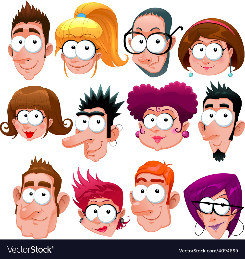 funny faces royalty free vector image vectorstock rh vectorstock com vector facelift vector facelift
