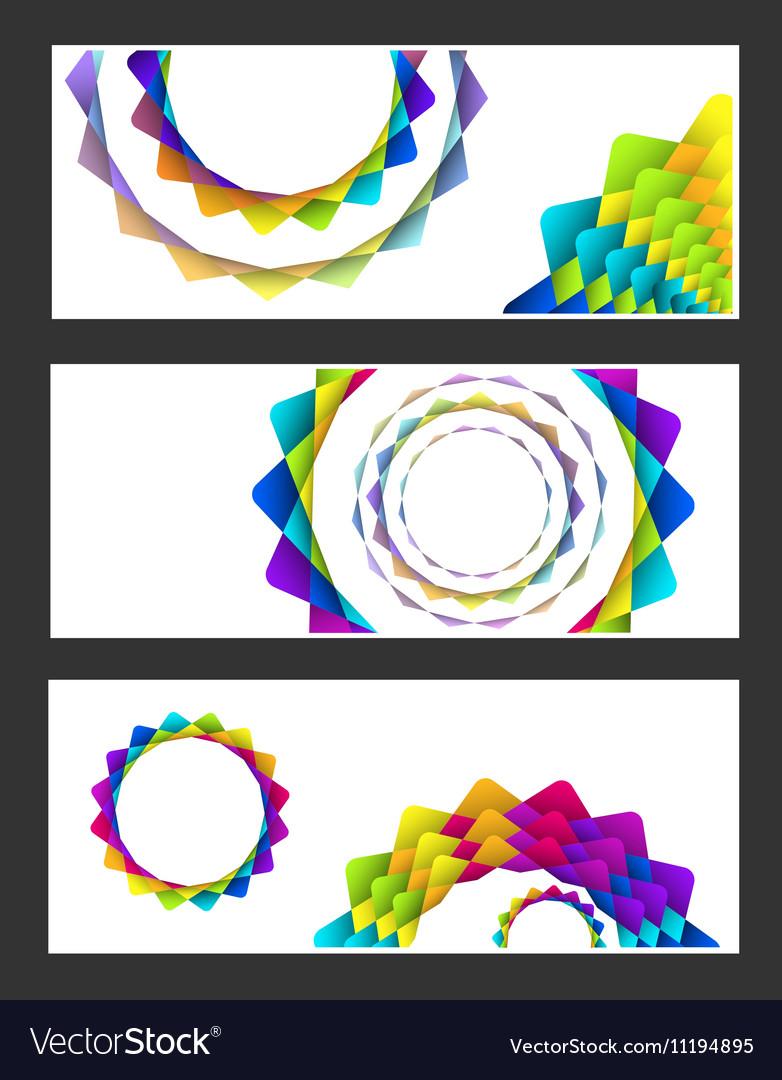 Geometric rainbow pastel flowers business card se