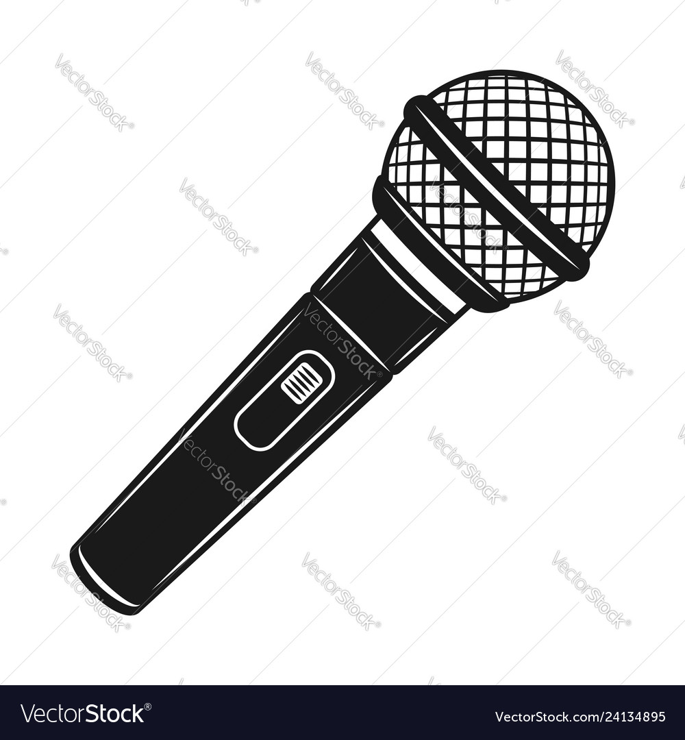 Microphone black object or design element
