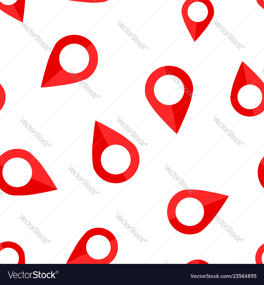 Pin map icon seamless pattern background gps