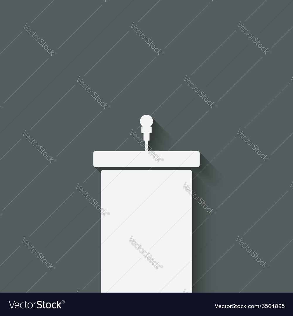 Podium with microphone vector image