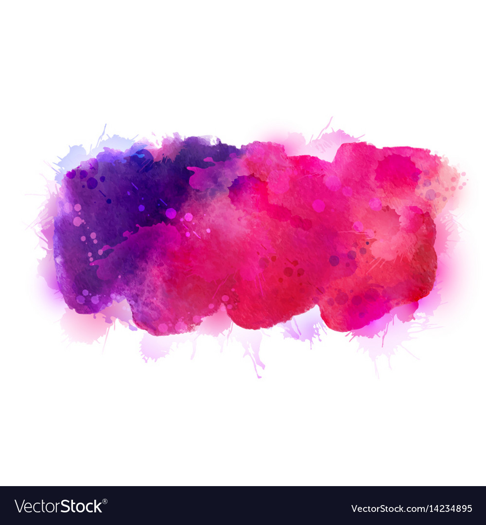Purple violet lilac and pink watercolor stains