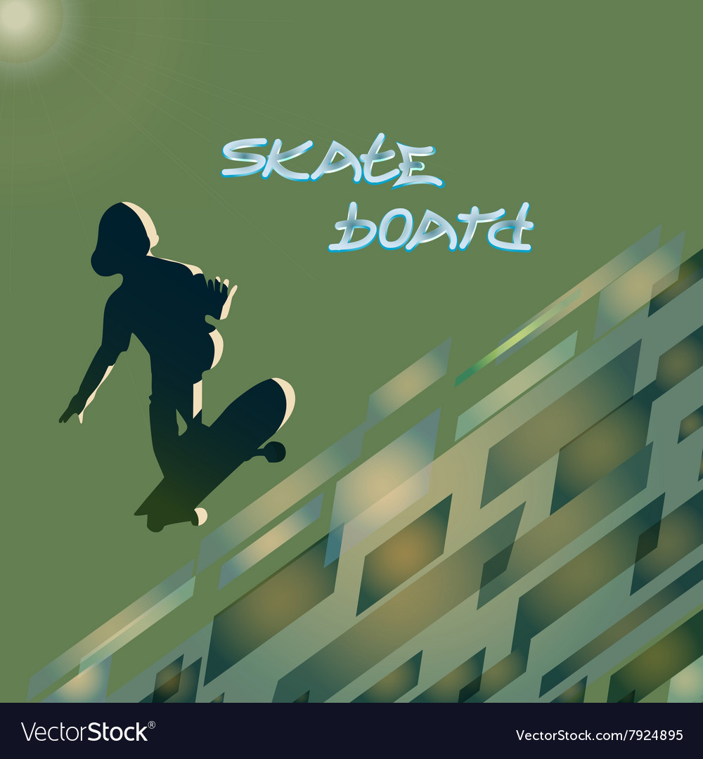 Skate Board Club vector image