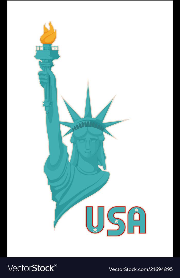 Statue of liberty usa national symbol