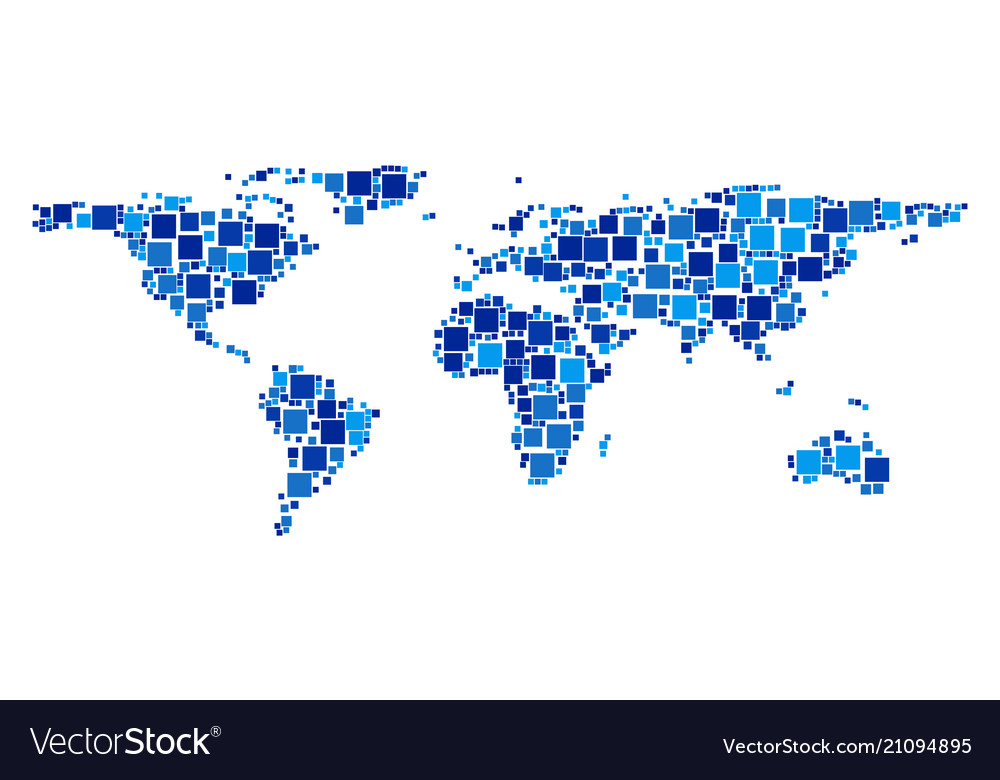 World map composition of squares royalty free vector image world map composition of squares vector image gumiabroncs Image collections